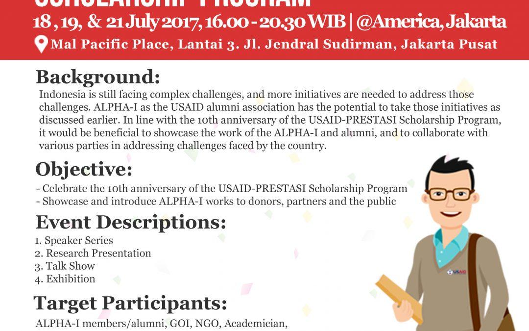 Peringatan hari ulang tahun yang ke-10 program beasiswa USAID-PRESTASI